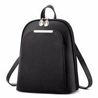 ZHIERNA Fashion 2017 Black High Quality Back Pack Brand School Bags For Teenage Girls Gold PU