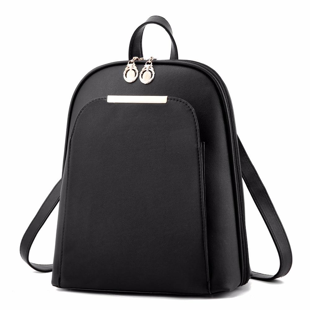 ZHIERNA Fashion 2017 black High Quality back pack brand school bags for teenage girls gold PU bagpack cute cat backpack women