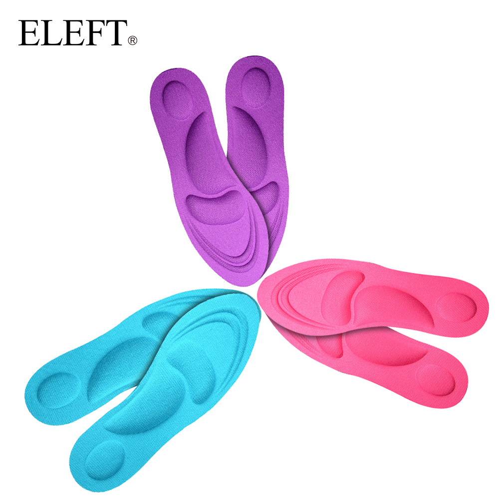 ELEFT High quality Arch support insoles for Flat Foot Memory foam orthopedic Insoles for shoes woman Breathable Shock-Absorbant shoes pads memory foam support orthotic insoles arch