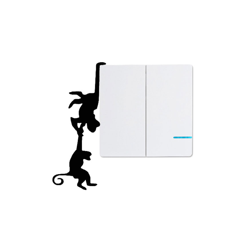 Monkey Switch Socket Stickers Personalized Funny Decor Vinyl Waterproof Decals Home Wall Decoration Automotive Wrap Products
