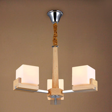 Simple Japan Style Wood Luminaire Study Room Hanging Wood Chandelier Decor Rope Wood Pendant Lamps With No Bulbs D60