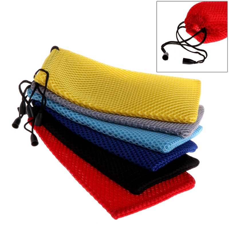 Portable Apparel Accessories Mesh Plaid Sunglasses Eyeglasses Glasses Pouch Case