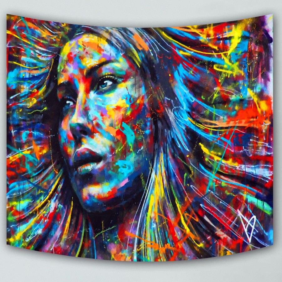 Indian Mandala Colorful Sky Printed Tapestry Wall Hanging Beach Throw Mat Hippie Bedspread Yoga Mat Blanket
