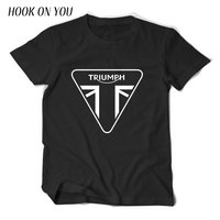 Classic TRIUMPH MOTORCYCLE T Shirt Men 100 Cotton Short Sleeve Good Quality T Shirt Top Tees