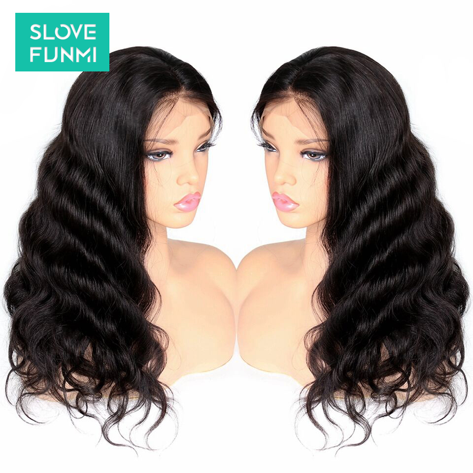 Body Wave Lace Front Human Hair Wigs For Black Women Brazilian Remy Lace Wig Full Frontal