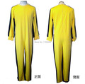 Free Shipping Vintage Classic Bruce Lee Costume Dark Yellow Jumpsuit Kung Fu Uniform Game Of Death Cosplay Costume