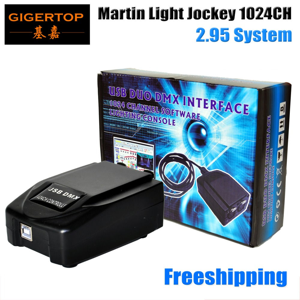 Free Shipping Martin Light Jockey 1024 USB Controller PC Windows-based Controller Utilizing USB DMX Interface Led Stage Light martin dmx interface 128 ch rs485