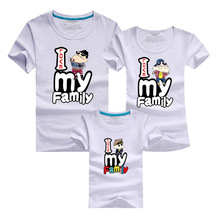 Family Tee Shirts 2016 Cartoon T-shirt Men Harajuku Hiking T Shirt Brand Clothing Tshirt Polera Matching Mother Daughter Clothes
