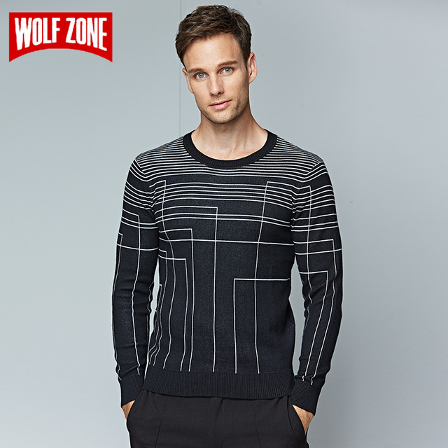 Real Pullover Men Winter Knitted Sweater 100% Cotton Casual Brand Clothing O-neck Long Sleeve Pullovers for Solid Mens Sweaters
