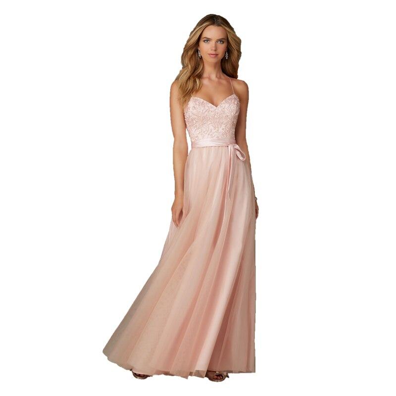 Blush rose robes de Demoiselle d'honneur pour la fête de mariage Robe Demoiselle Honneur invité de mariage longue Robe de Demoiselle d'honneur en mousseline de soie pour les femmes