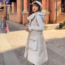 PinkyIsBlack Autumn Winter Vest Women Cotton 2019 Long Fashion Big Pockets Drawstring Waistcoat Hooded Female Casual Coat