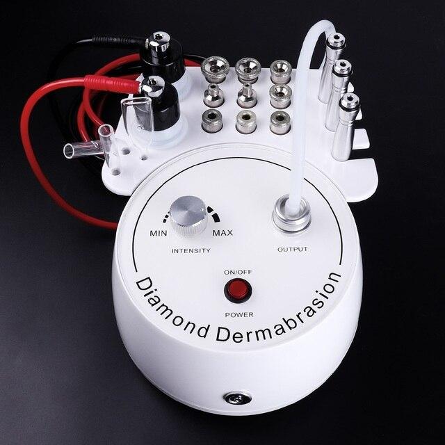 3 ב 1 יהלומי Microdermabrasion Dermabrasion מכונה מים תרסיס קילוף יופי מכונת הסרת קמטים פנים קילוף ספא