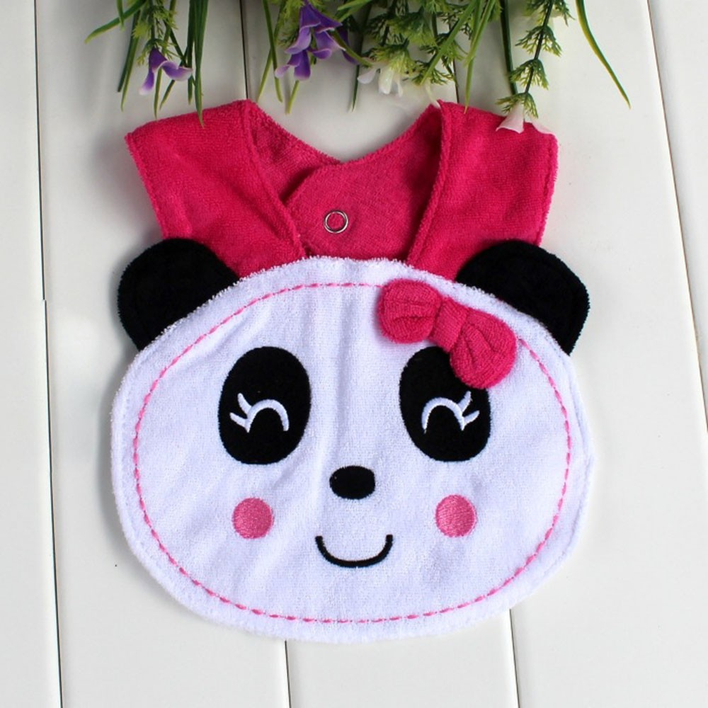 Panda Animal Form Soft Baby Bibs