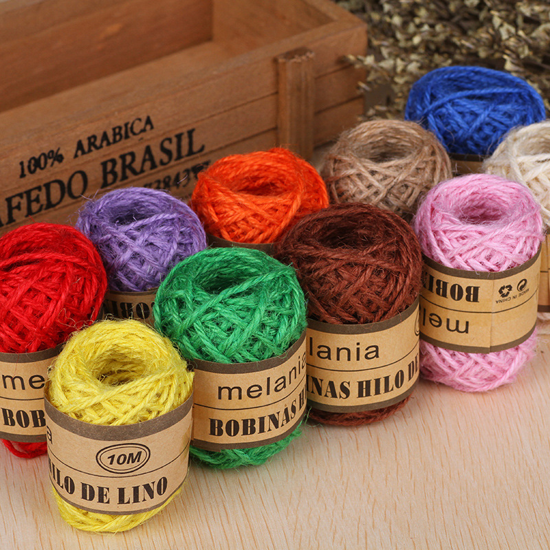 Cheap 10M Natural Hessian Burlap Jute Twine Rope for Wedding Party ...
