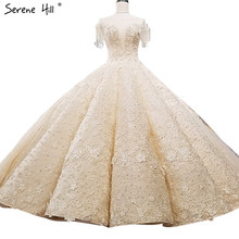 קיצוני יוקרה ללא שרוולים סקסי בציר חתונה שמלות 2020 קריסטל פרחי מותאם אישית high end טול הכלה שמלה