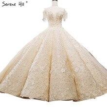 Lujo extremo sin mangas Sexy Vintage vestidos de novia 2020 Crystal Flowers alta gama personalizado vestido de tul para bodas foto Real