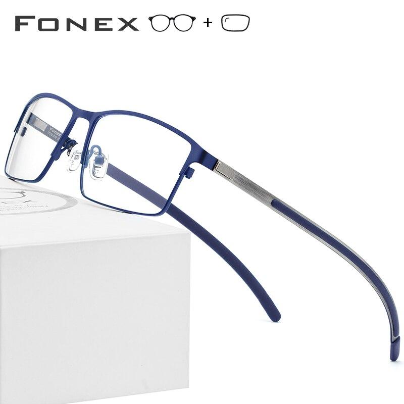 c6e38b1b8a Marco de gafas de titanio puro hecho a mano para hombres Vintage redondo  sin tornillos gafas