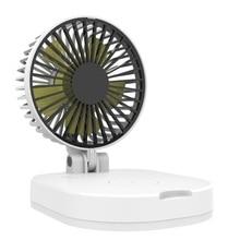 FAN-20 Portable Silent Mini Fan Student Electric Fan Chargeable Small Desktop Fan Wireless Charging USB 10000Am
