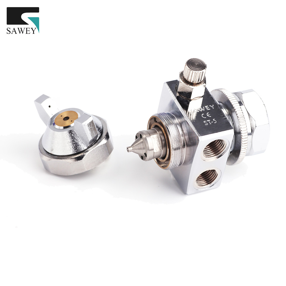 SAWEY brand ST-5 mini auto automatic air paint spray gun for die casting, nozzle 0.3/0.5/1.0/1.3/1.5/2.0/2.5mm,Free Shipping manoli st 6 st 6r automatic spray gun st6 st6rpainting gun 0 5 1 0 1 3 2 0mm nozzle free shipping fan and round pattern