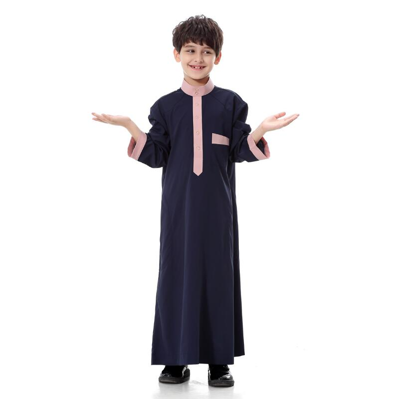2018 NEW Muslim Arab Middle East Boy Robe Clothes Islamic Clothing children Muslim Kids Abaya Embroidery Arabic Boy Clothing in Boys Costumes from Novelty Special Use