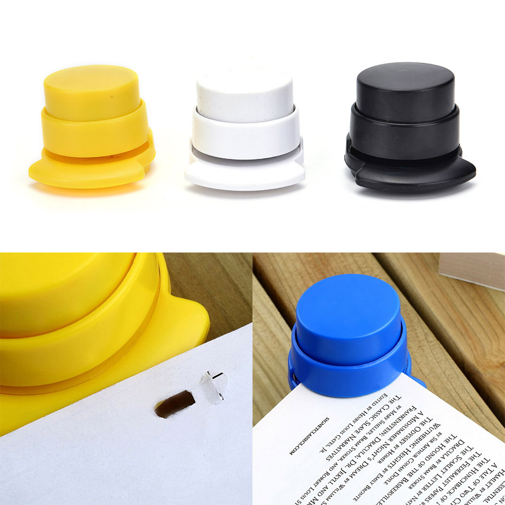 Office Staple Free Stapleless Stapler Home Paper Binding Binder Paperclip New Size: 5*5.7cm