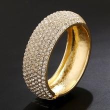 WLP Brand Jewelry New Fashion bracelet bangles High quality woman full Rhinestone Bracelet alloy charm bangles gold coated