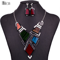 MS1504501 Fashion Jewelry Sets Hight Quality Necklace Sets For Women Jewelry Multicolored Resin Unique Geometric Box Design