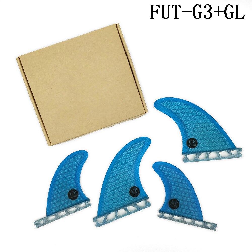 Quilhas Fiberglass Honeycomb Surfboard Fin Future Fin G3+GL Blue Quad Fin Free Shipping Quad Fin Set