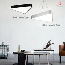 Simple Triangle Hanging Lights Aluminum LED Ceiling Light Acrylic Modern Decoration Studio Home Lounge Shop Lamp Fixture