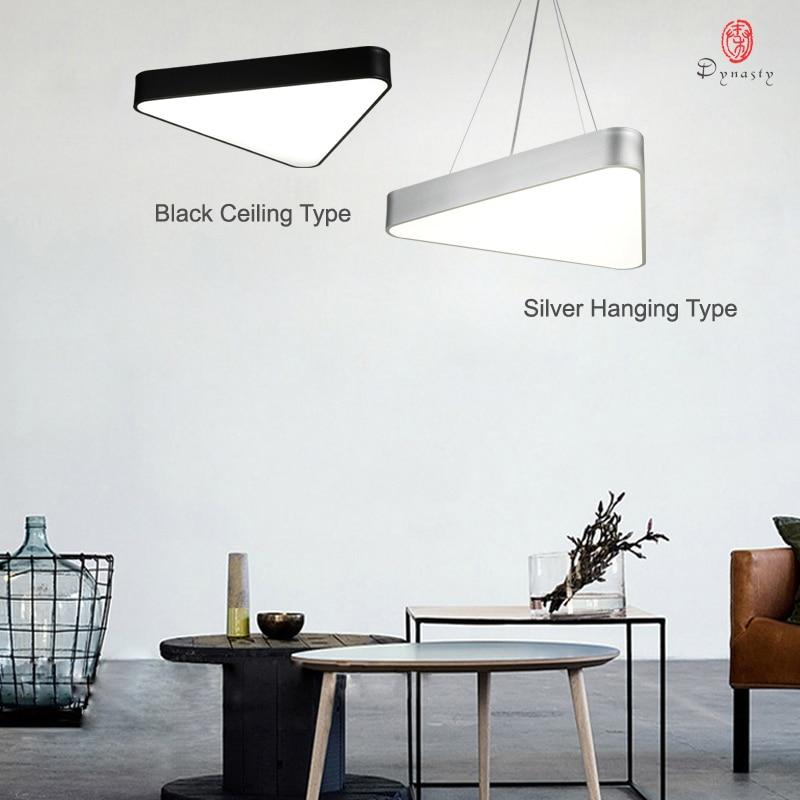 Simple Triangle Hanging Lights Aluminum LED Ceiling Light Acrylic Modern Decoration Studio Home Lounge Shop Hanging Lamp Fixture