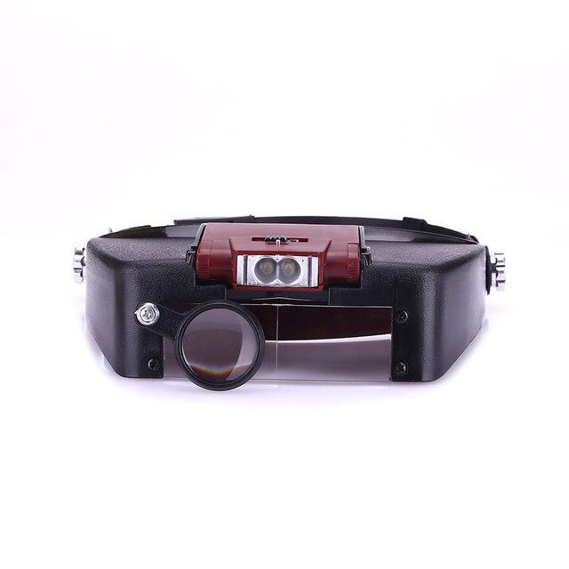 Automatische booster Glas Lens LED Licht Visor Hoofd Loep Juwelier ...
