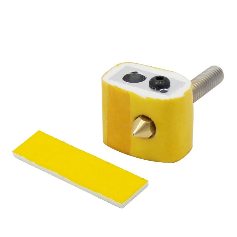 3mm Thick 3D Printer Heating Block Cotton Hotend Nozzle Heat Insulation 5PCS  HF