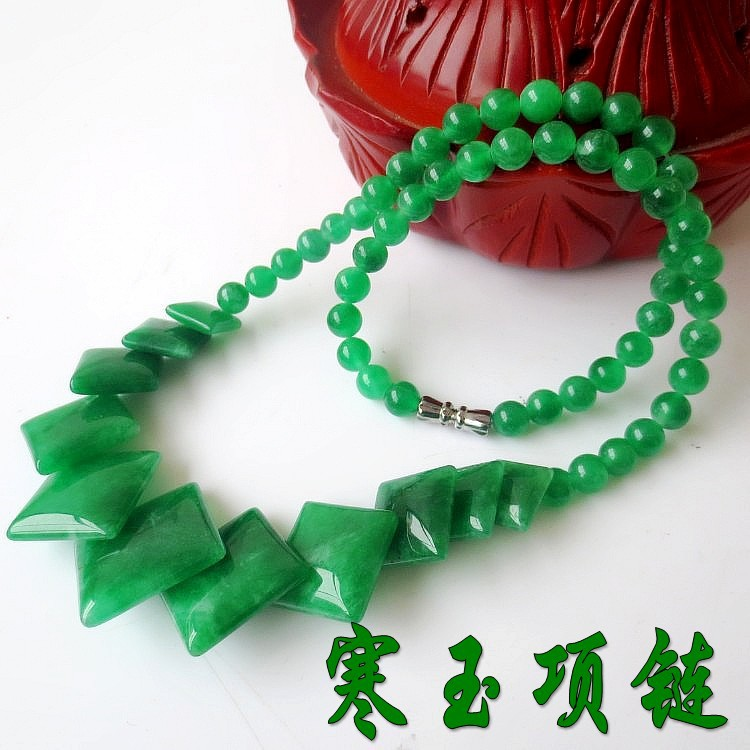 c7e60c48fb04 Verde natural piedra collar moldeado fresco declaración collar accesorios  para las mujeres
