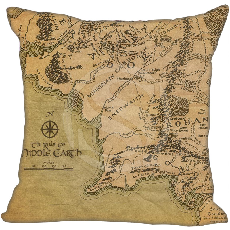 New Arrival Custom Pillow Case The Lord Of Rings Pillowcase Zipper 35x35 Cm (One Side)  F922