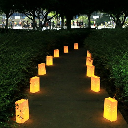 20pcs Lot Love Candle Bag Ant Paper Bags Luminaria Flame Lantern For Bbq Valentine Day Wedding Party Home Outdoor Decor In Lanterns From