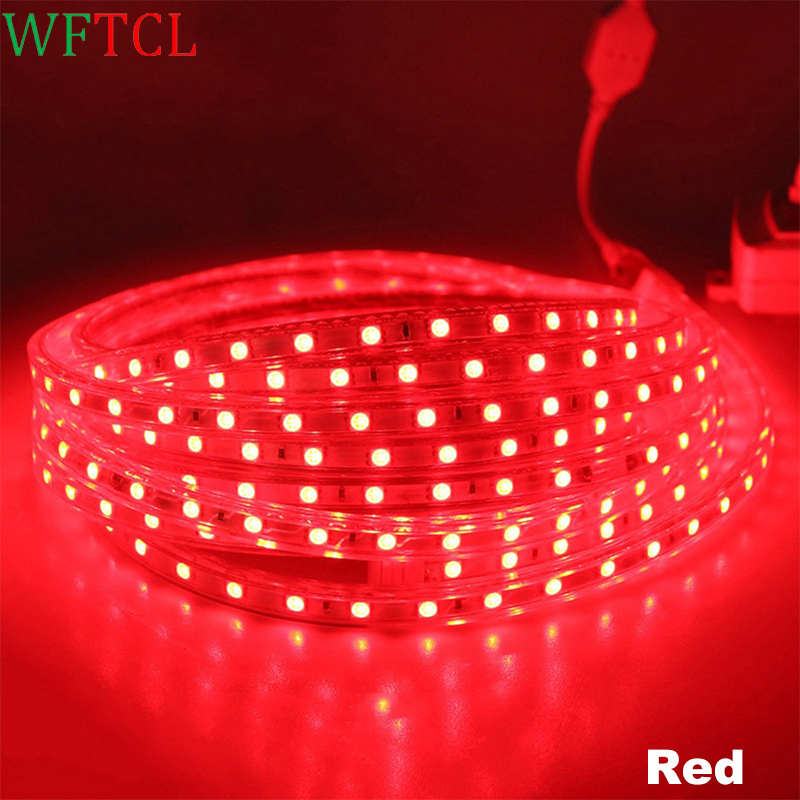 5050 rgb led strip waterproof AC 220V Flexible LED Tape Lights Red, Blue, White for wedding, Christmas, Party, Home decoration