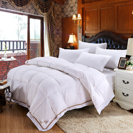 Home Textile Winter Comforter Goose Feather Quilt White