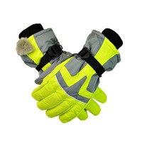 30 Degrees Winter Male Professional Ski Gloves Men Waterproof Warm Gloves Boys Christmas Gift Snow