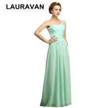 Новое поступление vestidos longo женское легкое Мятное зеленое платье с одним плечом шифоновое длинное свадебное платье платья скромные платья