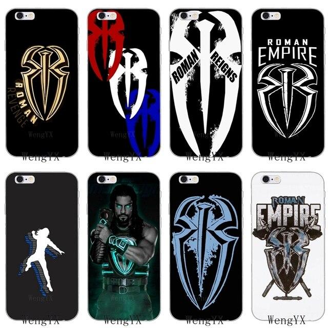 roman reigns logo spider wrestling slim silicone soft phone case for