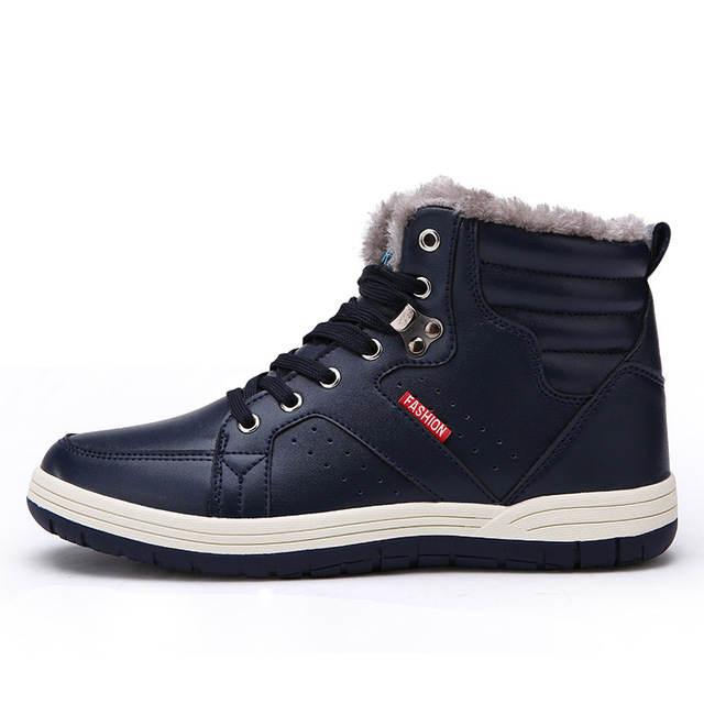 ZYYZYM Mens Boots Winter Keep Warm 2018 Hot Sales For Male Waterproof Ski Plush Snow Motorcycle Boots Large size