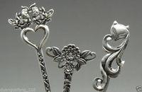 Kolekcje Zdobione Stary Handwork Miao Srebrny Carving Noble Serpentynę 3 sztuk/partia