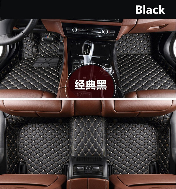 For Peugeot 3008 2013-2018 Floor Mats Auto Foot Carpets Car Step Mats High Quality Brand New Embroidery Leather Mats
