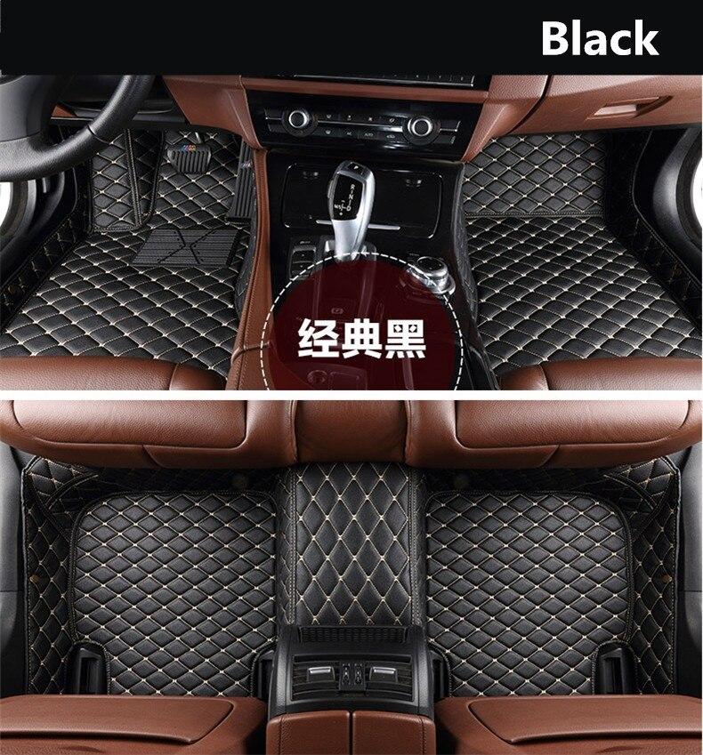Pour Peugeot 3008 2013-2018 tapis de sol Auto tapis de voiture étape tapis de haute qualité tout nouveau tapis en cuir de broderie