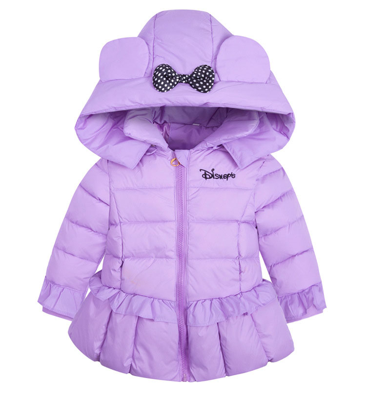 Online Shop Fashion cute bow hooded girls down coats and jackets ...