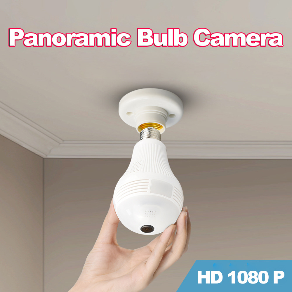 HD 360 Degree Wide Angle Fisheye Wireless LED Light VR Panoramic IP Camera for iOS Android Home Security Camera System
