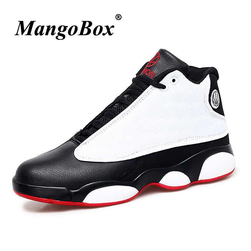 9446dbf8a82c Basketball Shoes Male Luxury Brand Boys Outdoor Shoes Men High Top  Basketball Trainers Red Black