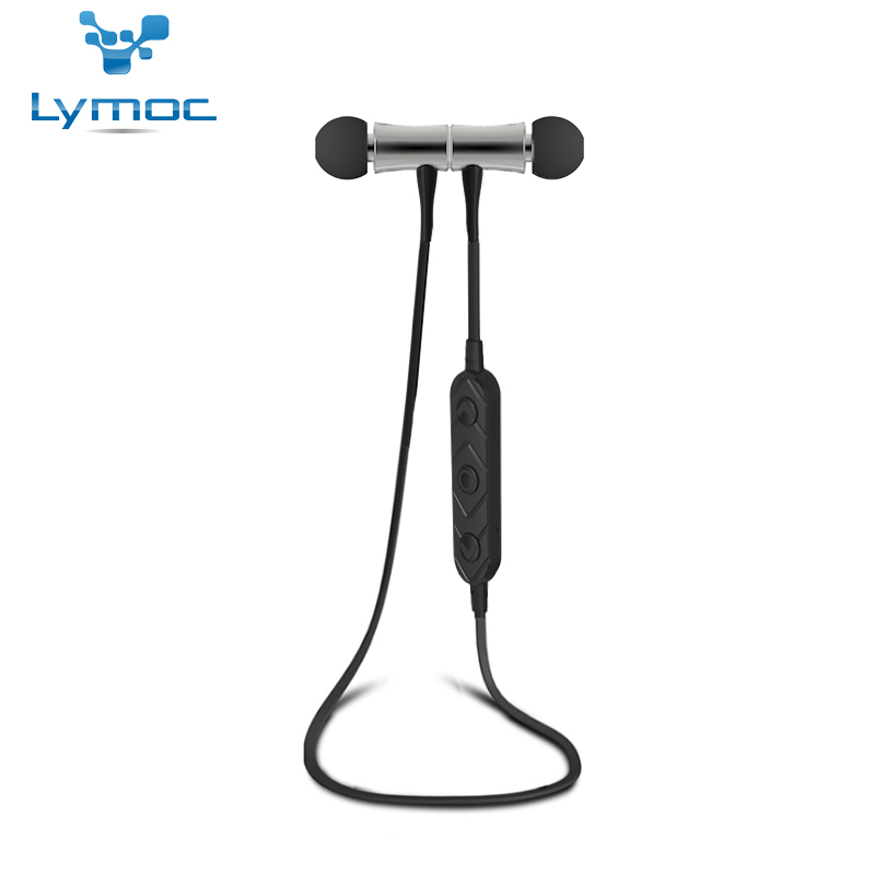LYMOC HT3 Métal Bluetooth Casques Sport Sans Fil Écouteurs Magnétique Commutateur Courir Sweatproof HD Mains Libres pour iphone 8 X Téléphone
