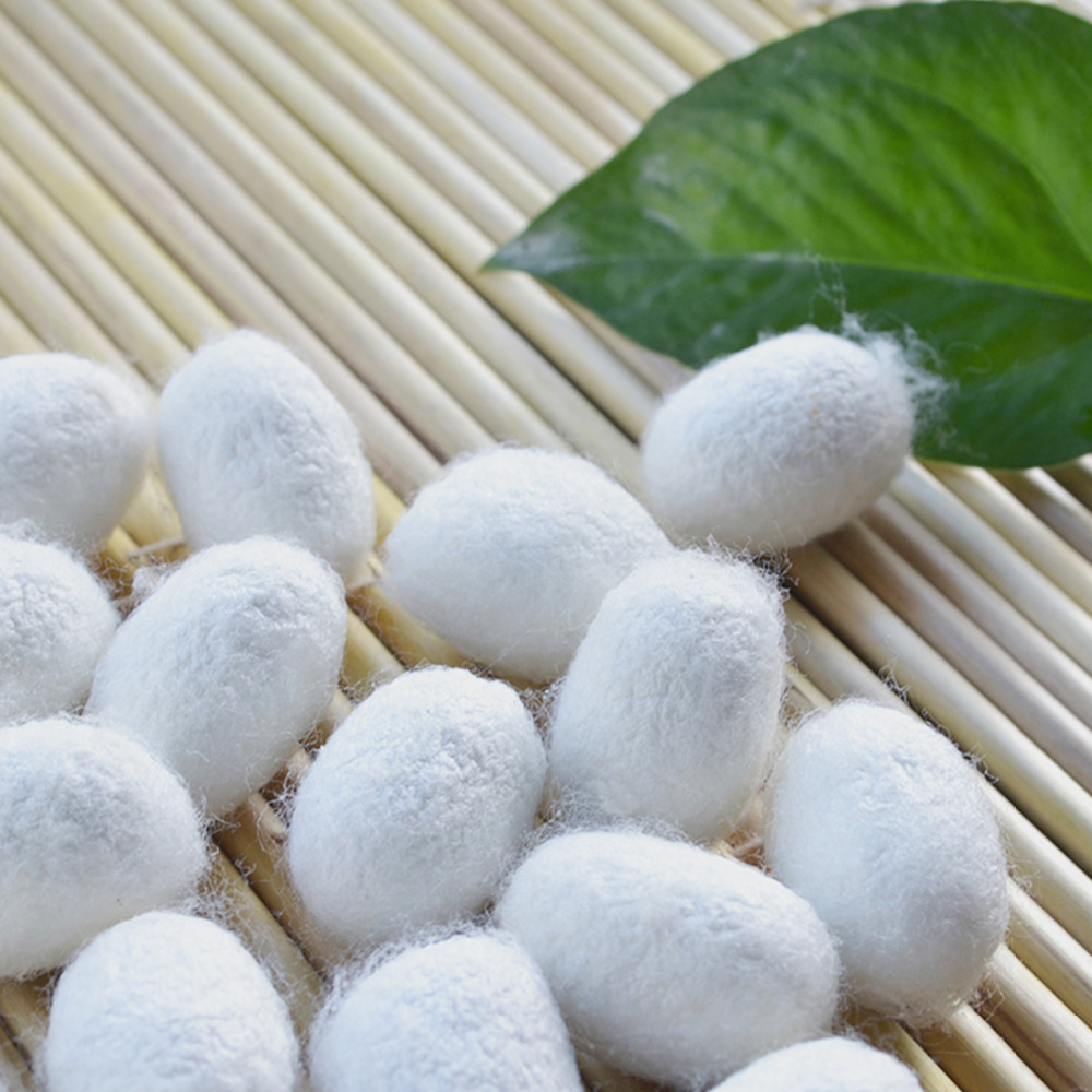 Purifying Whitening Exfoliating Scrub 30PCS Organic Silkworm Balls Blackhead Acne Remover Natural Silk Cocoons Facial Skin Care