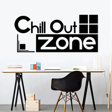 Cartoon Chill Out Zone Sentence Diy Home Decoration Vinyl Wallpaper For Kids Rooms Living Room Wall Art Decals stickers muraux